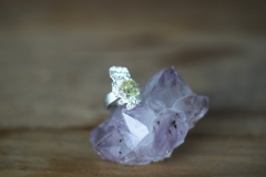 ring met ruwe steen