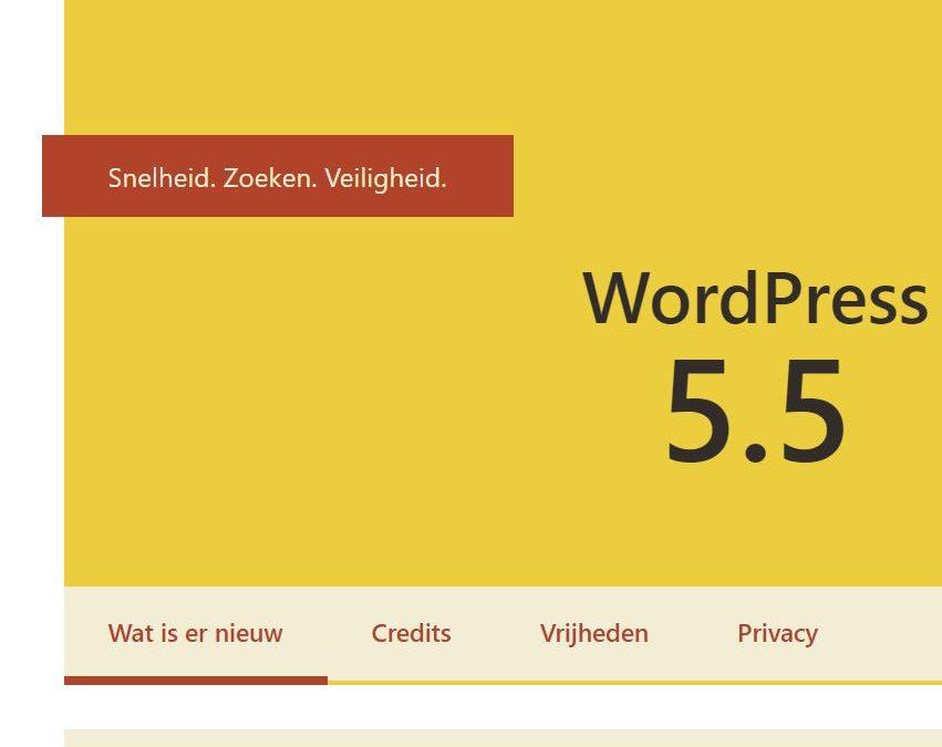 WordPress 5.5: sitemap, updates en de blokeditor